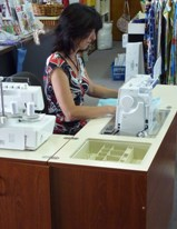 Using sewing cabinet