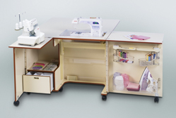 Sewing cabinets, craft and hobby sewing table
